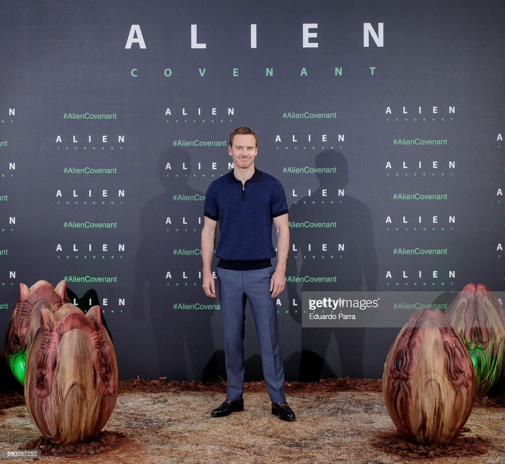 Actor Michael Fassbender attends the 'Alien: Covenant' photocall at Villamagna hotel on May 8, 2017 in Madrid, Spain.