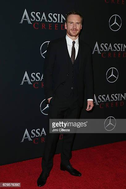 Actor Michael Fassbender attends the Assassin's Creed New York Premiere at AMC Empire 25 theater on December 13 2016 in New York City