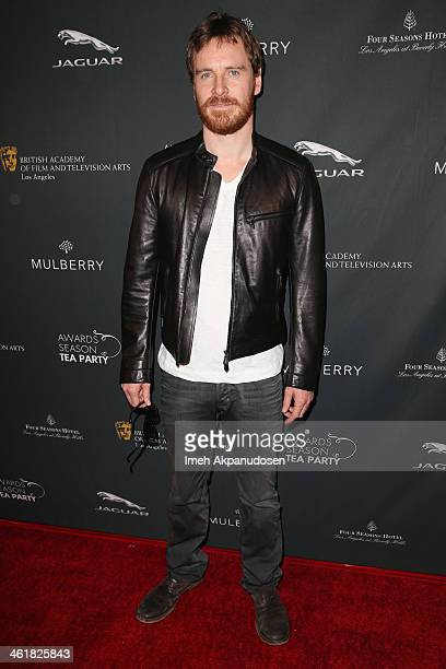 Actor Michael Fassbender attends the BAFTA LA 2014 Awards Season Tea Party at the Four Seasons Hotel Los Angeles at Beverly Hills on January 11 2014...