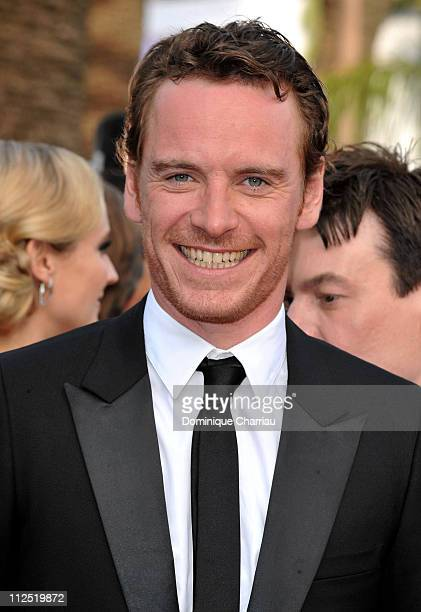 Actor Michael Fassbender attends the 'Inglourious Basterds' Premiere at the Grand Theatre Lumiere during the 62nd Annual Cannes Film Festival on May...