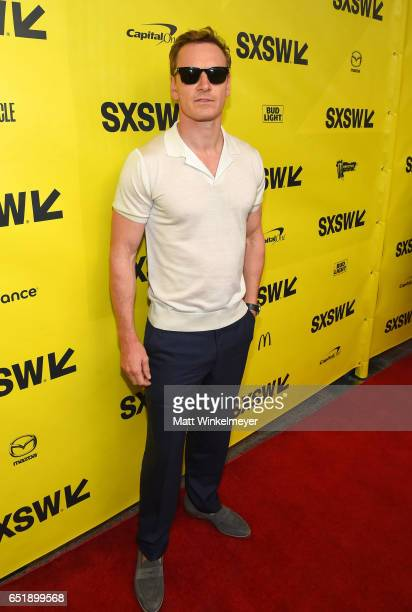 Actor Michael Fassbender attends the premiere of 'Song to Song' during 2017 SXSW Conference and Festivals at Paramount Theatre on March 10 2017 in...