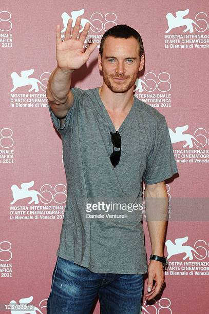Actor Michael Fassbender attends the Shame Photocall during the 68th Venice International Film Festival at Palazzo del Casino on September 4 2011 in...