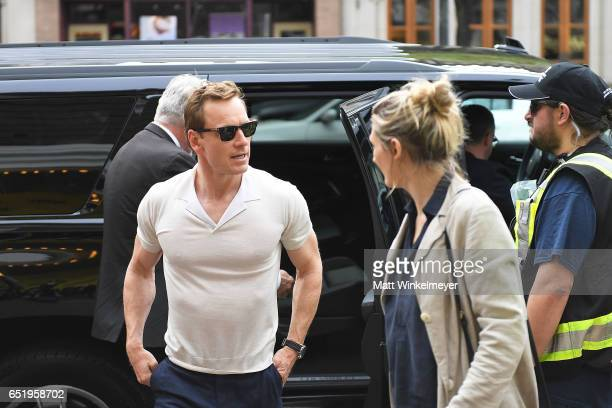 Actor Michael Fassbender attends the Song To Song premiere 2017 SXSW Conference and Festivals at Paramount Theatre on March 10 2017 in Austin Texas