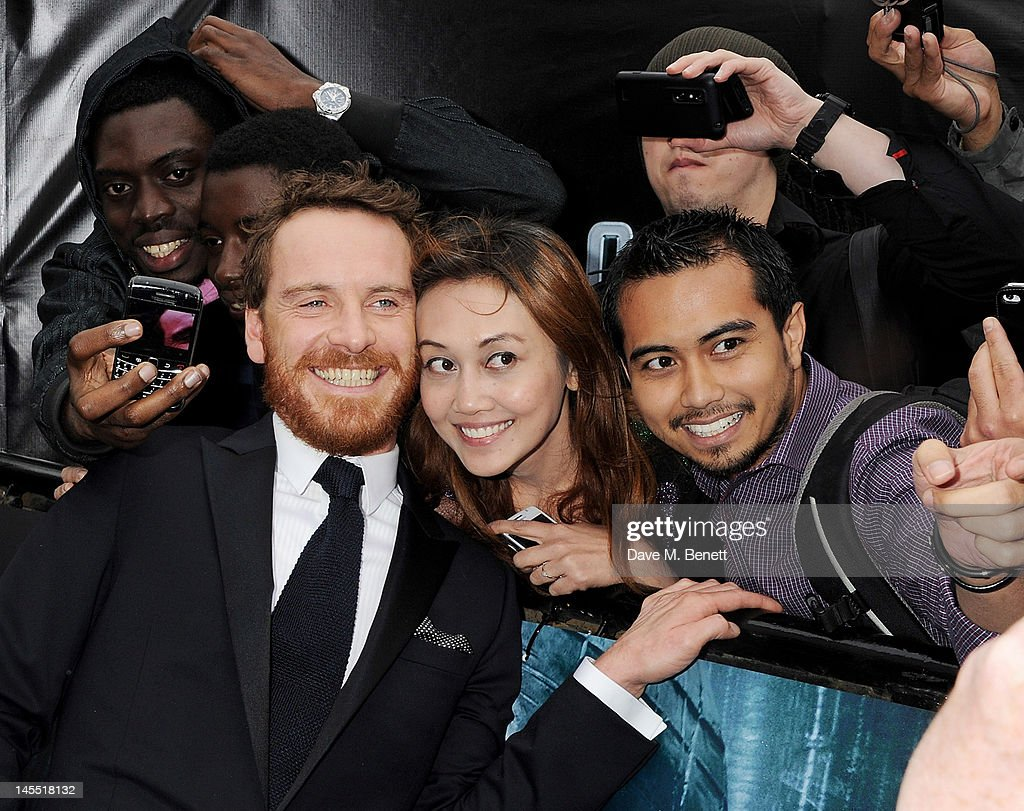 Actor Michael Fassbender attends the World Premiere of 'Prometheus' at Empire Leicester Square on May 31, 2012 in London, England.