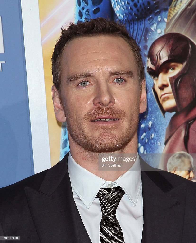 Actor Michael Fassbender attends the 'X-Men: Days Of Future Past' World Premiere - Outside Arrivals at Jacob Javits Center on May 10, 2014 in New York City.