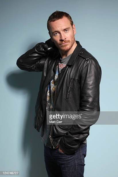 Actor Michael Fassbender of 'Shame' poses during the 2011 Toronto Film Festival at Guess Portrait Studio on September 12 2011 in Toronto Canada