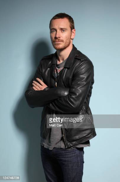 Actor Michael Fassbender of Shame poses during the 2011 Toronto Film Festival at Guess Portrait Studio on September 12 2011 in Toronto Canada