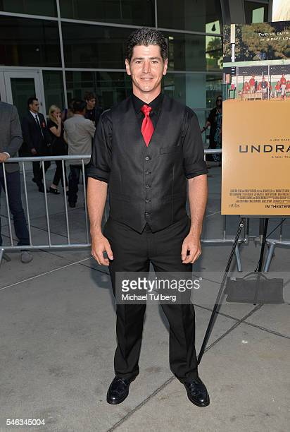 Actor Michael Fishman attends the premiere of Vertical Entertainment's Undrafted at ArcLight Hollywood on July 11 2016 in Hollywood California