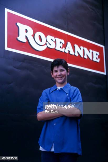 Actor Michael Fishman DJ Conner from TV show 'Roseanne' poses for a portrait on the lot outside of the soundstage for 'Roseanne' circa 1990 in Los...