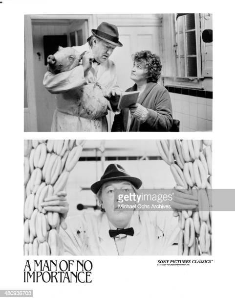 Actor Michael Gambon and actress Brenda Fricker on set actor Michael Gambon in a scene from the movie 'A Man of No Importance ' circa 1994