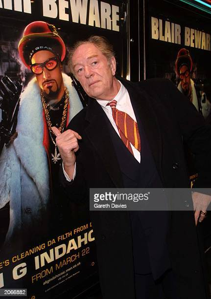 Actor Michael Gambon attends the London premiere of the Ali G film 'Indahouse' at the Empire Leicester Square London on March 20 2002 Michael plays...