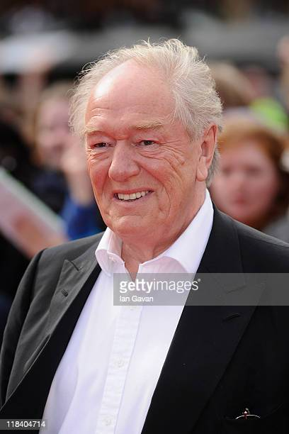 Actor Michael Gambon attends the World Premiere of Harry Potter and The Deathly Hallows Part 2 at Trafalgar Square on July 7 2011 in London England