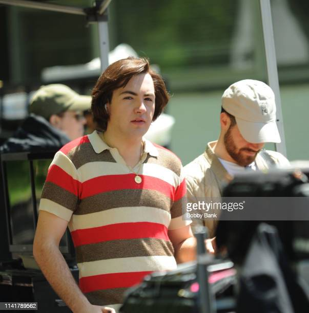 Actor Michael Gandolfini as a young Tony Soprano on the set of The Many Saints of Newark on May 6 2019 in New York City