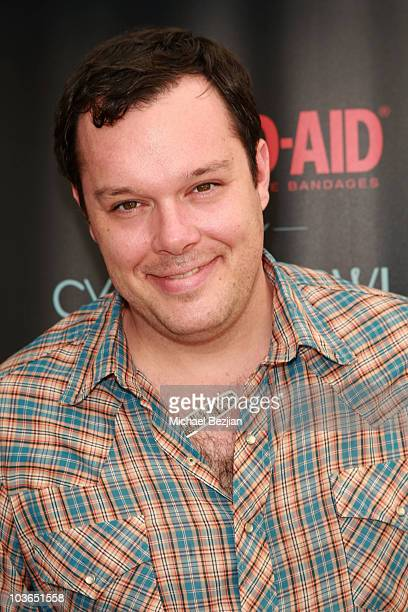 Actor Michael Gladis at the BandAid booth during Kari Feinstein Primetime Emmy Awards Style Lounge Day 1 held at Montage Beverly Hills hotel on...