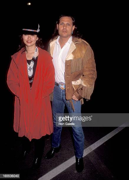 Actor Michael Horse and wife Sandra attend the Sixth Annual IFP/West Independent Spirit Awards Nominations Announcement on January 14 1990 at the...