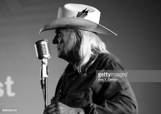 Actor Michael Horse who played the character of Deputy Chief Tommy 'Hawk' Hill on Twin Peaks' sings during the Twin Peaks UK Festival 2017 at Hornsey...