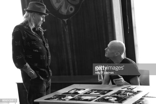 Actor Michael Horse who plays the character of Deputy Hawk in the TV series Twin Peaks talks with actor James Marshall during the Twin Peaks UK...