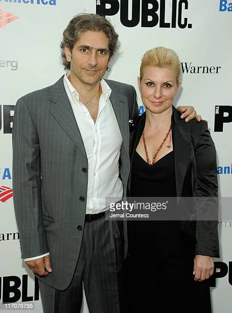 Actor Michael Imperioli and Victoria Chlebowski attend the 2011 Shakespeare In The Park Gala at the Delacorte Theater on June 20 2011 in New York City