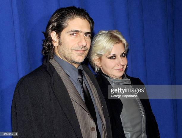 Actor Michael Imperioli and Victoria Imperioli attend the 7th annual Safe at Home gala at Pier Sixty at Chelsea Piers on November 13 2009 in New York...