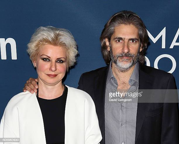 Actor Michael Imperioli and wife producer Victoria Imperioli attend the premiere of Amazon's Mad Dogs at SilverScreen Theater at the Pacific Design...
