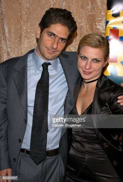 Actor Michael Imperioli and wife Victoria arrive at the HBO Golden Globe After Party at the Beverly Hilton Hotel on January 16 2005 in Beverly Hills...