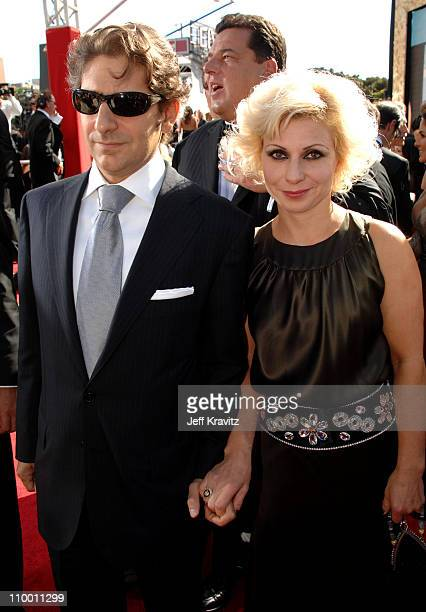 Actor Michael Imperioli and wife Victoria Chlebowski arrive at the 59th Primetime EMMY Awards at the Shrine Auditorium on September 16 2007 in Los...