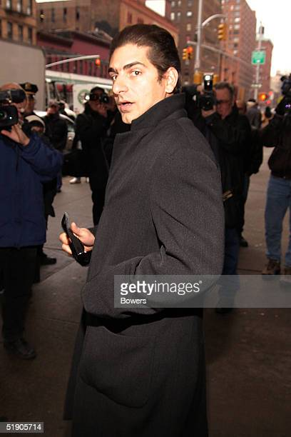 Actor Michael Imperioli attends the funeral for Jerry Orbach at Riverside Chapel December 31 2004 in New York City