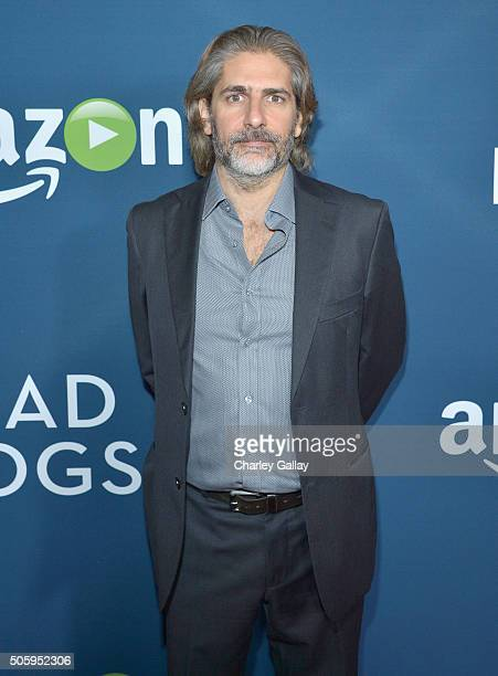 Actor Michael Imperioli attends the red carpet premiere screening of Amazon original series Mad Dogs at Pacific Design Center on January 20 2016 in...