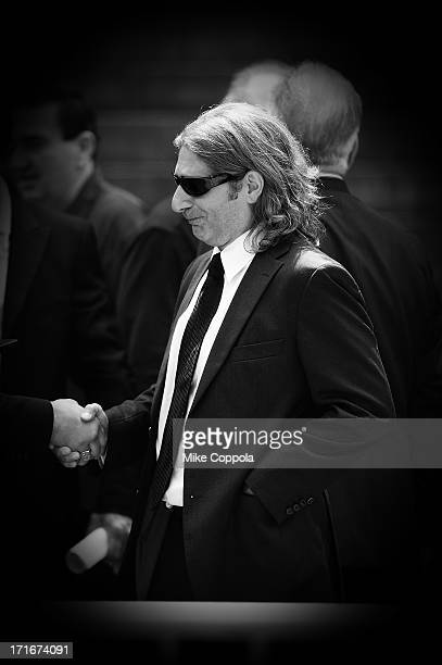 Actor Michael Imperioli leaves the funeral for actor James Gandolfini at The Cathedral Church of St John the Divine on June 27 2013 in New York City...