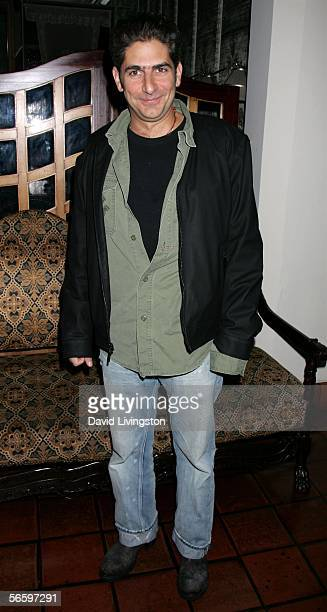 Actor Michael Imperioli poses at HBO's Annual PreGolden Globe Reception at Chateau Marmont on January 14 2006 in Los Angeles California