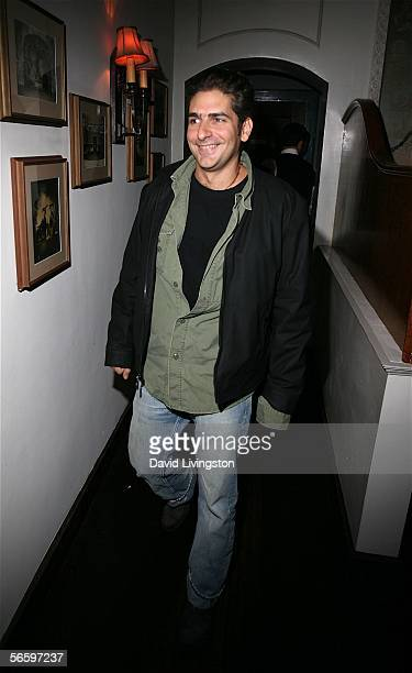 Actor Michael Imperioli smiles as he attends HBO's Annual PreGolden Globe Reception at Chateau Marmont on January 14 2006 in Los Angeles California
