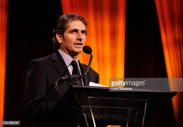 Actor Michael Imperioli speaks at the Exploring the Arts Gala at Cipriani Wall Street on September 27 2010 in New York City