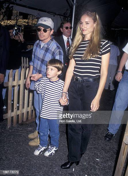 Actor Michael J Fox actress Tracy Pollan and son Sam Fox attend the Third Annual 'Kids for Kids' Celebrity Carnival to Benefit the Elizabeth Glaser...