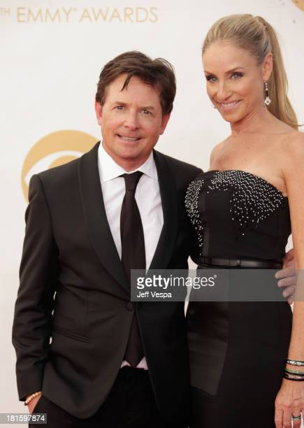 Actor Michael J Fox and actress Tracy Pollan arrive at the 65th Annual Primetime Emmy Awards held at Nokia Theatre LA Live on September 22 2013 in...