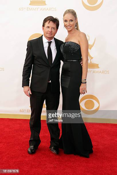 Actor Michael J. Fox and actress Tracy Pollan arrive at the 65th Annual Primetime Emmy Awards held at Nokia Theatre L.A. Live on September 22, 2013...