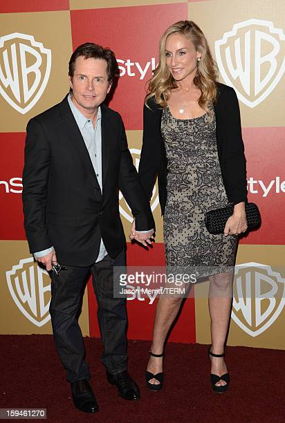 Actor Michael J Fox and actress Tracy Pollan attend the 14th Annual Warner Bros And InStyle Golden Globe Awards After Party held at the Oasis...