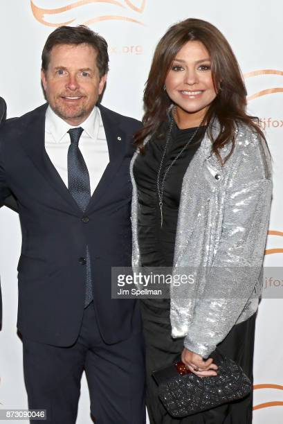 Actor Michael J Fox and TV personality Rachael Ray attend the 2017 A Funny Thing Happened on the Way to Cure Parkinson's event at the Hilton New York...