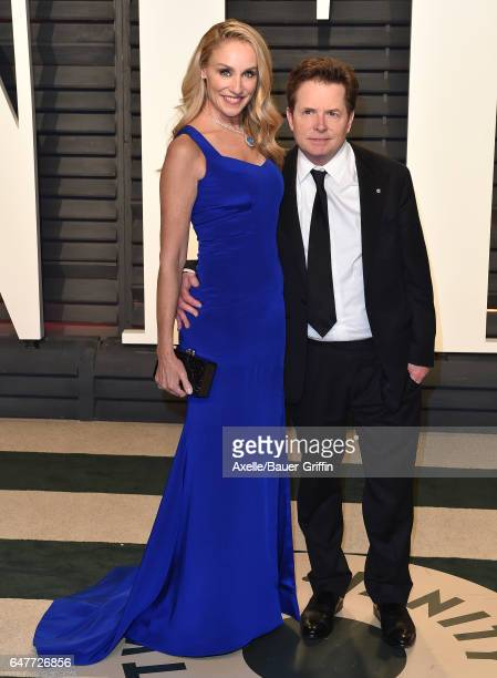 Actor Michael J Fox and wife Tracy Pollan arrive at the 2017 Vanity Fair Oscar Party Hosted By Graydon Carter at Wallis Annenberg Center for the...