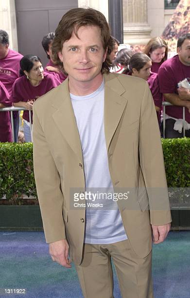 Actor Michael J Fox arrives at the world premiere of the Walt Disney Pictures film Atlantis The Lost Empire June 3 2001 at the El Capitan Theatre in...