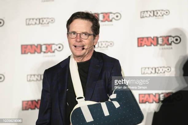 Actor Michael J Fox attends An Evening With the Cast of Back To The Future at the Metro Toronto Convention Centre on August 31 2018 in Toronto Canada