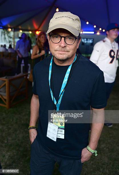 Actor Michael J Fox attends Desert Trip at The Empire Polo Club on October 9 2016 in Indio California
