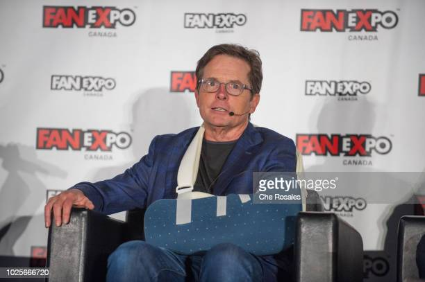 Actor Michael J. Fox attends the 2018 Fan Expo Canada at Metro Toronto Convention Centre on August 31, 2018 in Toronto, Canada.