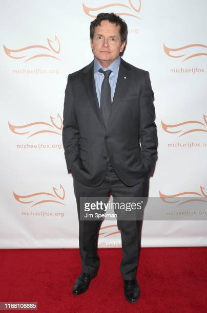 Actor Michael J Fox attends the 2019 A Funny Thing Happened On The Way To Cure Parkinson's at the Hilton New York on November 16 2019 in New York City