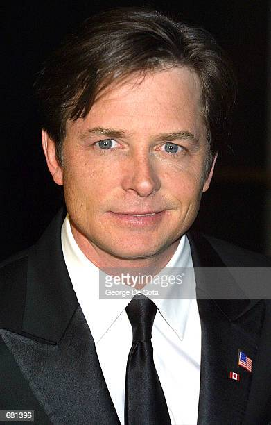 Actor Michael J Fox attends the Broadcasting and Cable Magazine's annual Hall of Fame gala November 12 2001 at the New York Marriott Marquis