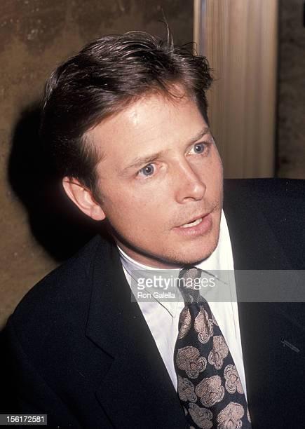 Actor Michael J. Fox attends the En Garde Arts Benefit on December 5, 1994 at 55 Water Street in New York City.