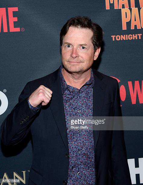 Actor Michael J Fox attends the SHOWTIME And HBO VIP PreFight Party for Mayweather VS Pacquiao at MGM Grand Hotel Casino on May 2 2015 in Las Vegas...