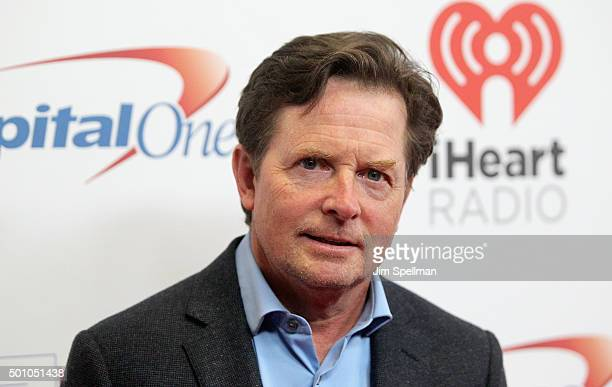 Actor Michael J Fox attends the Z100's iHeartRadio Jingle Ball 2015 at Madison Square Garden on December 11 2015 in New York City