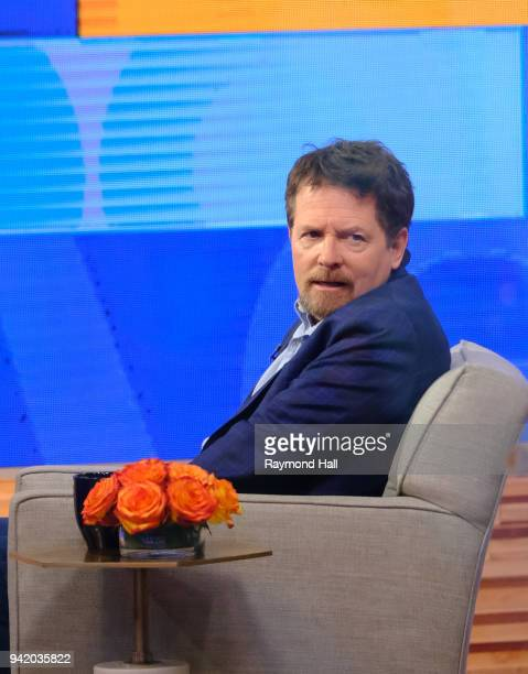 Actor Michael J Fox is seen on the set of Good Morning Americaon April 4 2018 in New York City