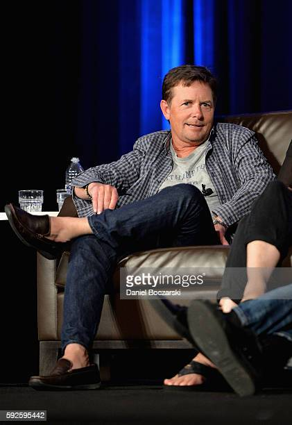 Actor Michael J Fox onstage during Wizard World Comic Con Chicago 2016 Day 3 at Donald E Stephens Convention Center on August 20 2016 in Rosemont...