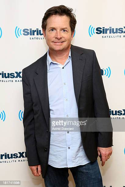 Actor Michael J Fox poses at SiriusXM's 'Town Hall' series at SiriusXM Studios on September 24 2013 in New York City